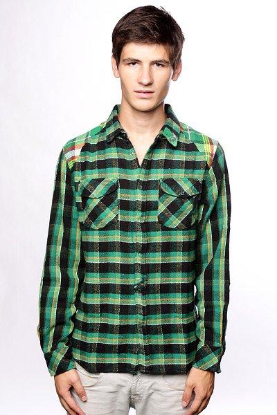 Рубашка Insight Oh My Green<br><br>Тип: Рубашка в клетку<br>Возраст: Взрослый<br>Пол: Мужской