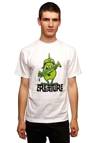 Футболка Creature Gremmie White<br><br>Цвет: белый<br>Тип: Футболка<br>Возраст: Взрослый<br>Пол: Мужской