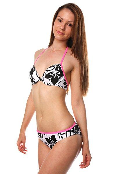 Купальник женский Roxy Rox-Two-O Regular Pant White<br><br>Цвет: черный,белый<br>Тип: Купальник<br>Возраст: Взрослый<br>Пол: Женский