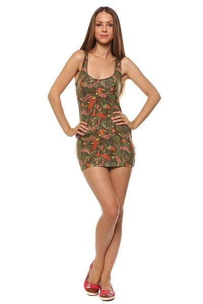 Платье женское Insight Pop Tropica Dress Pop Tropica<br><br>Цвет: зеленый<br>Тип: Платье<br>Возраст: Взрослый<br>Пол: Женский