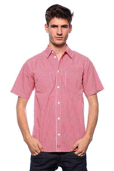 Рубашка Dickies Brenham Fiery Red<br><br>Цвет: красный,белый<br>Тип: Рубашка<br>Возраст: Взрослый<br>Пол: Мужской