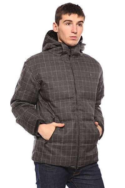 Куртка пуховик Globe United Jacked CharcoalТехнические характеристики: Верх из комбинации материалов. Внутренняя подкладка из тафты.  Дополнительное утепление – синтепон.   Застежка – молния по всей длине. Съемный капюшон с утяжкой. Два боковых прорезных кармана для рук.  Фасон: стандартный (regular fit).<br><br>Цвет: серый<br>Тип: Пуховик<br>Возраст: Взрослый<br>Пол: Мужской