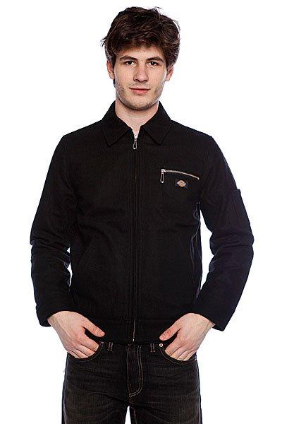 Куртка Dickies Kieran Jacket True BlackЭта модель куртки подойдет для мужчин, которые любят точные строгие линии, классический стиль. Строгий фасон прекрасно подойдет как ежедневная верхняя одежда. Эта куртка отлично удерживает тепло благодаря тому, что в составе ткани находится шерсть. Куртка имеет жесткую структуру, что позволяет ей долго не терять изначальную форму. Компания  позаботилась о том, чтобы вам было уютно, комфортно и тепло в куртке, которая в свою очередь служила долго и функционально.       Строгие черты куртки дополнены скрытой молнией, в куртке есть нагрудный карман и два кармана по обе стороны модели.<br><br>Цвет: черный<br>Тип: Куртка<br>Возраст: Взрослый<br>Пол: Мужской