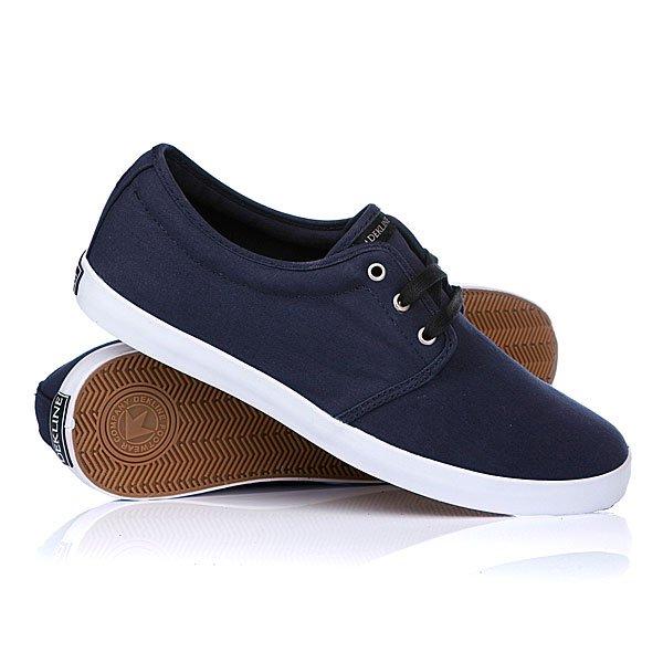 Кеды кроссовки низкие Dekline River Midnight/BlackЦвет дополнительных шнурков:белый<br><br>Цвет: синий<br>Тип: Кеды низкие<br>Возраст: Взрослый<br>Пол: Мужской