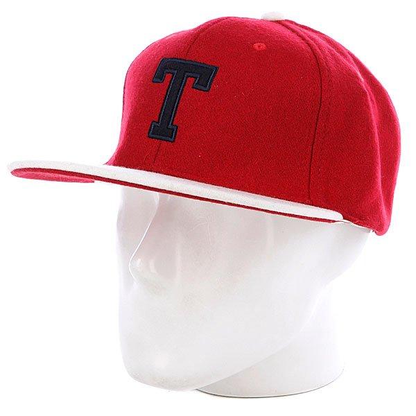 Бейсболка True Spin T Wool Red/White<br><br>Цвет: красный,белый<br>Тип: Бейсболка с прямым козырьком<br>Возраст: Взрослый