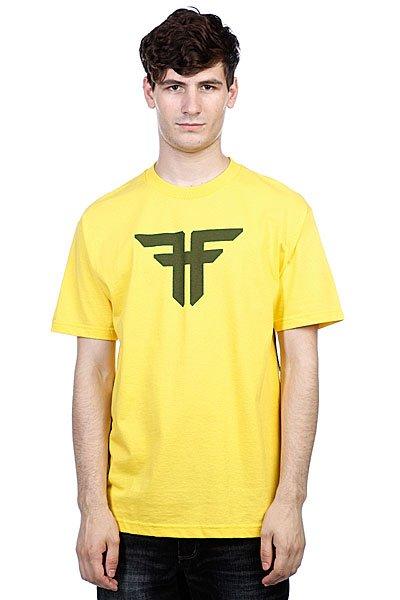 Футболка Fallen Trademark Yellow/Surp Green<br><br>Цвет: желтый<br>Тип: Футболка<br>Возраст: Взрослый<br>Пол: Мужской