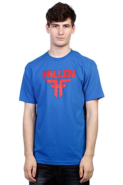 Футболка Fallen Insignia Logo Royal Blue/Blood Red<br><br>Цвет: синий<br>Тип: Футболка<br>Возраст: Взрослый<br>Пол: Мужской