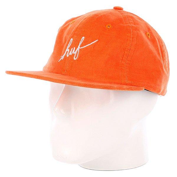 Бейсболка Huf Formless Script 6 Panel Orange<br><br>Цвет: оранжевый<br>Тип: Бейсболка с прямым козырьком<br>Возраст: Взрослый