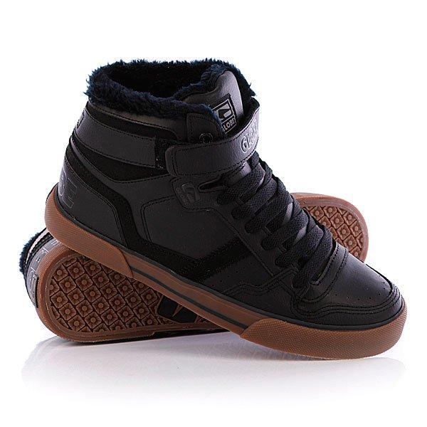 Кеды кроссовки утепленные Globe Superfly-Vulcan Black FurКеды Globe Superfly-Vulcan – это отличный вариант теплой обуви для тех, кто ценит комфорт кед и надежность серьезных ботинок. Удачное сочетание материалов – нубук и иск.кожа – придают харизму строгому дизайну, а отменные характеристики обеспечат  удобство и долговечность носки. Характеристики:  Верх из искусственной многослойной кожи. Внутренняя утепленная отделка из искусственного меха. Мягкая тканьная стелька. Мягкий воротник. Массивный мягкий язычок. Дополнительный ремешок на липучке для фиксации голеностопа. Классическая плоская шнуровка. Легкая перфорация на носке. Гибкая вулканизированная резиновая подошва. Логотип производителя на фиксирующем ремешке и пятке.<br><br>Цвет: черный<br>Тип: Кеды утепленные<br>Возраст: Взрослый<br>Пол: Мужской
