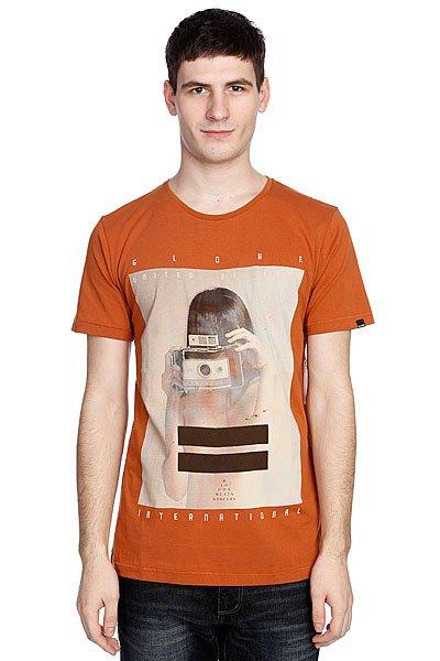 Футболка Globe Polaroid Girl Tee Ginger<br><br>Цвет: оранжевый<br>Тип: Футболка<br>Возраст: Взрослый<br>Пол: Мужской