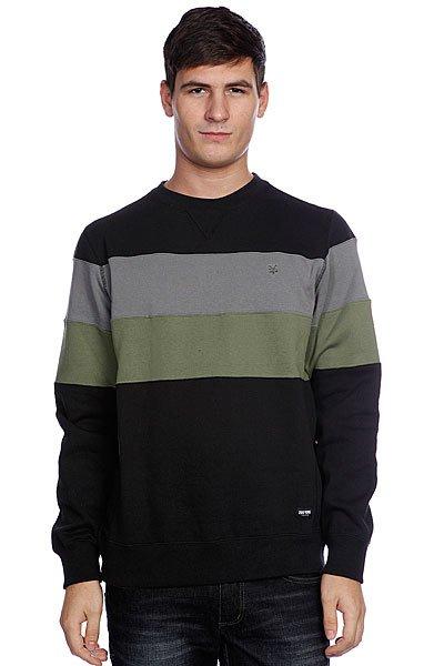 Свитшот Zoo York Striped Crew Black<br><br>Цвет: зеленый,серый,черный<br>Тип: Толстовка свитшот<br>Возраст: Взрослый<br>Пол: Мужской