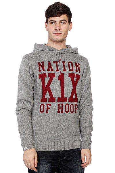 Свитер K1X Simple Type Knit Hoody<br><br>Цвет: серый<br>Тип: Свитер<br>Возраст: Взрослый<br>Пол: Мужской