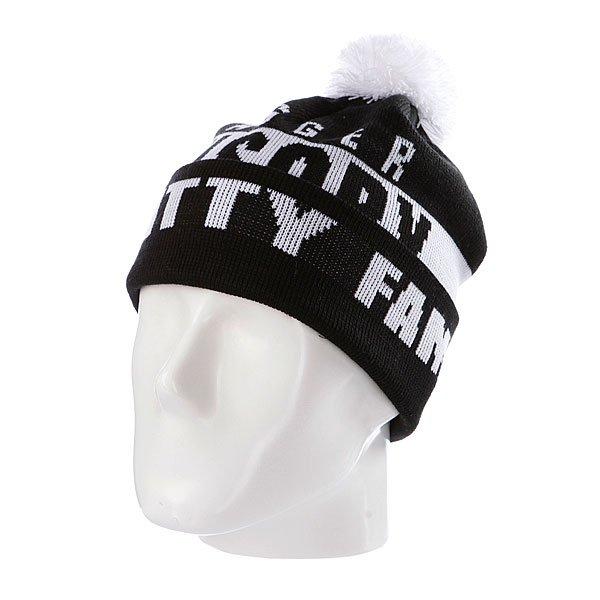 Шапка с помпоном Flat Fitty Swagger Fam Black/White<br><br>Цвет: черный,белый<br>Тип: Шапка<br>Возраст: Взрослый<br>Пол: Мужской