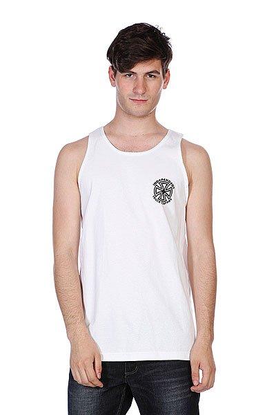 Майка Independent Bauhaus Cross Tank White<br><br>Цвет: белый<br>Тип: Майка<br>Возраст: Взрослый<br>Пол: Мужской
