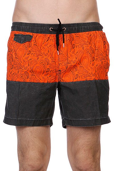Шорты Globe Palme Poolshort Vint Blk<br><br>Цвет: оранжевый,черный<br>Тип: Шорты<br>Возраст: Взрослый<br>Пол: Мужской