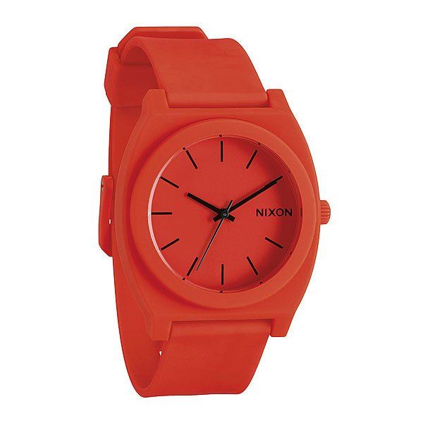 Часы Nixon Time Teller P Neon OrangeМаксимально плоские, кислотно яркие и невероятно простые, эти часы созданы для того, чтобы сообщать вам точное время. Японский кварцевый механизм, поликарбонатный корпус с прочным минеральным стеклом, полиуретановый ремешок, поликарбонатная застежка, и водонепроницаемость 100 метров, делают данные часы прекрасным выбором для людей, которые проводят свой отдых на воде.Корпус:Тип: цельный корпус с привинчиваемой крышкой и заводной головкойДиаметр: (40 мм)&amp;nbsp;Материал: полимерныйБезель: фиксированный из поликарбонатаУсиленное минеральное стекло;Водонепроницаемость: 100 м&amp;nbsp;Механизм:&amp;nbsp;Механизм кварцевый Miyota (Япония)Точность: 1/20 секундыФункции: часы, минуты, секунды.&amp;nbsp;Браслет:&amp;nbsp;Ремешок: Фирменный полимерный ремешок с двойной фиксацией замка «Loking Loopper» (Мертвая петля), данный ремешок фиксируется не только замком из нержавеющей стали, но и сам ремешок имеет дополнительный фиксатор на кольце ремешка.<br><br>Цвет: оранжевый<br>Тип: Кварцевые часы<br>Возраст: Взрослый<br>Пол: Мужской