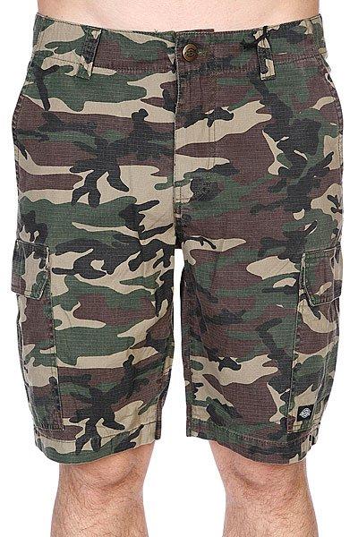 Шорты Dickies New York Short Camouflage<br><br>Цвет: зеленый,коричневый,черный<br>Тип: Шорты<br>Возраст: Взрослый<br>Пол: Мужской