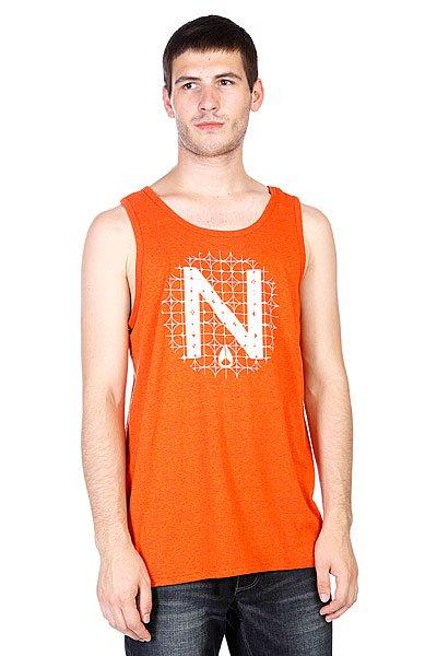 Майка Nixon Solo Mock Twist Tank Orange<br><br>Цвет: оранжевый<br>Тип: Майка<br>Возраст: Взрослый<br>Пол: Мужской