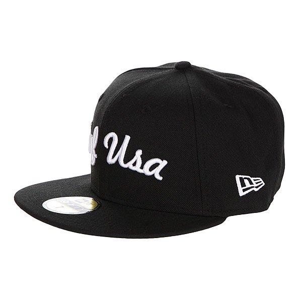 Бейсболка New Era Huf Usa NewEra Black<br><br>Цвет: черный<br>Тип: Бейсболка с прямым козырьком<br>Возраст: Взрослый