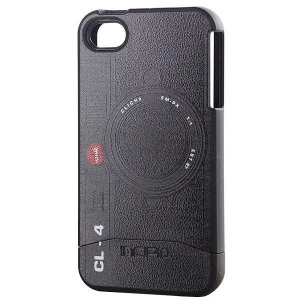Чехол для Iphone Incipio Cliche Camera Edge Iphone 4 Incipio Case BlackУдобный чехол для вашего телефона от бренда Cliche.Характеристики:Для iPhone 4.Принт с изображением камеры. Мягкая тряпочка для чистки в комплекте. Защитная пленка на экран в комплекте.<br><br>Цвет: черный<br>Тип: Чехол для iPhone