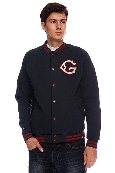 Бомбер Globe First String Jacket Ink Blue<br><br>Цвет: синий<br>Тип: Бомбер<br>Возраст: Взрослый<br>Пол: Мужской