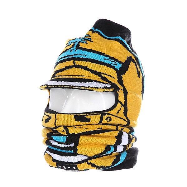 Балаклава Neff Full Visor Goon<br><br>Цвет: черный,желтый<br>Тип: Балаклава<br>Возраст: Взрослый<br>Пол: Мужской