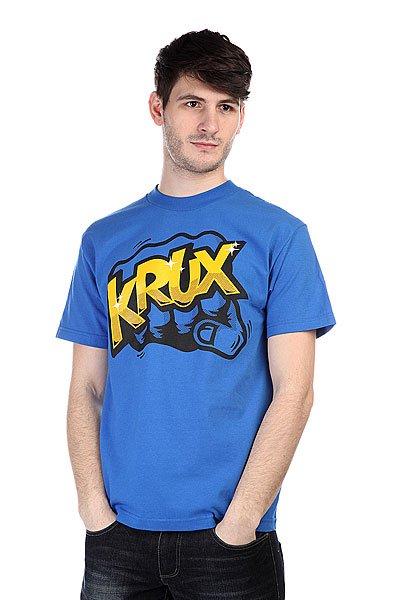 Футболка Krux The Bum Rush Royal Blue<br><br>Цвет: голубой<br>Тип: Футболка<br>Возраст: Взрослый<br>Пол: Мужской