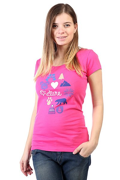 Футболка женская Picture Organic Paradise Pink<br><br>Цвет: розовый<br>Тип: Футболка<br>Возраст: Взрослый<br>Пол: Женский