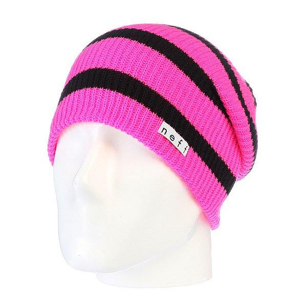Шапка носок Neff Daily Stripe Pink/Black<br><br>Цвет: розовый<br>Тип: Шапка носок<br>Возраст: Взрослый<br>Пол: Мужской