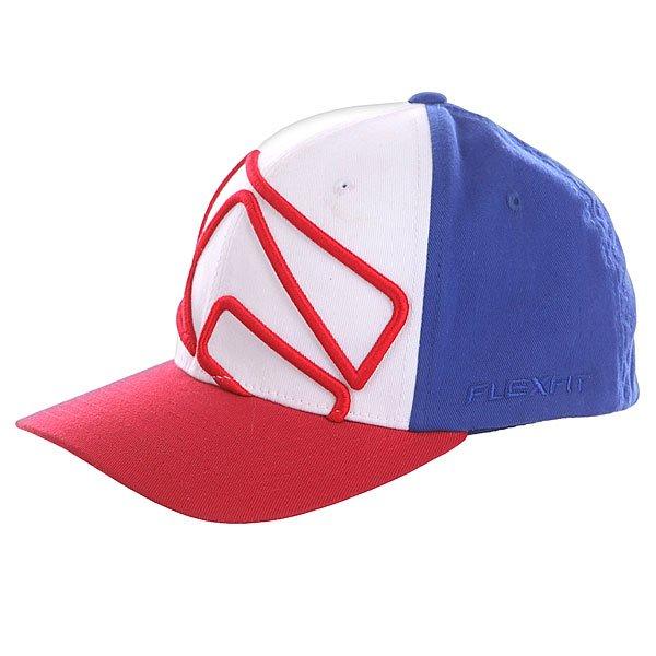 Бейсболка Flexfit Globe Carlisle Flexfit Red/Blue<br><br>Цвет: красный,синий<br>Тип: Бейсболка классическая<br>Возраст: Взрослый