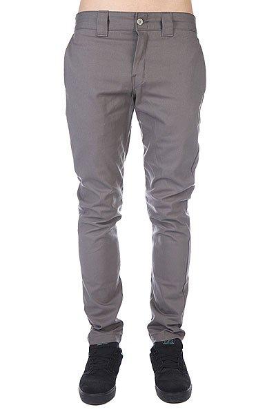 Штаны прямые Dickies Slim Skinny Work Pant Gravel Grey<br><br>Цвет: серый<br>Тип: Штаны прямые<br>Возраст: Взрослый<br>Пол: Мужской