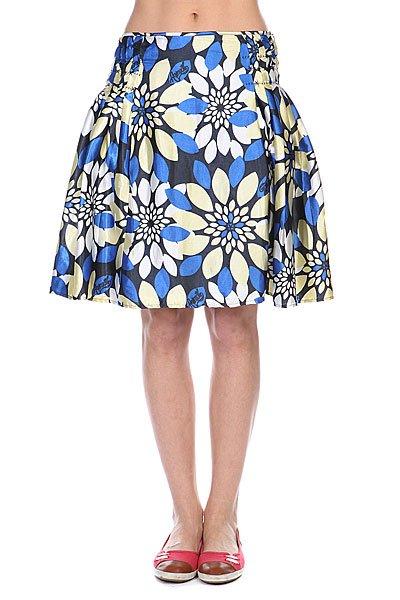 Юбка женская Animal Leo Skirt Ink Navy<br><br>Цвет: синий,желтый<br>Тип: Юбка<br>Возраст: Взрослый<br>Пол: Женский