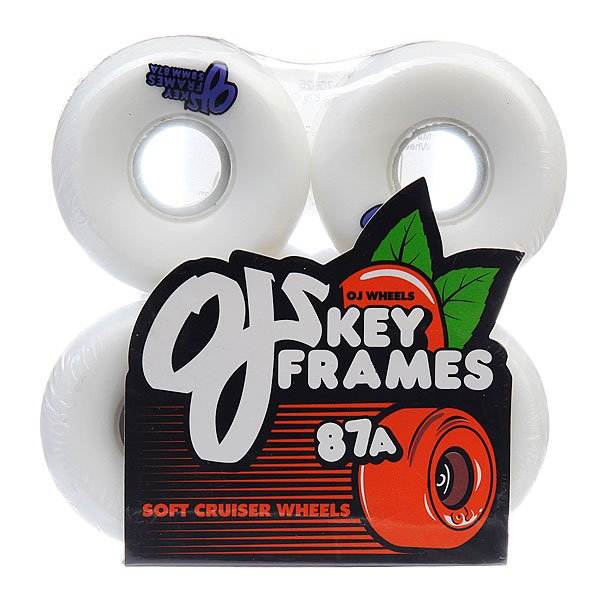 Колеса для скейтборда для скейтборда Oj Plain Jane White 87A 58 mmДиаметр: 58 mm    Жесткость: 87A    Цена указана за комплект из 4-х колес<br><br>Цвет: белый<br>Тип: Колеса для скейтборда