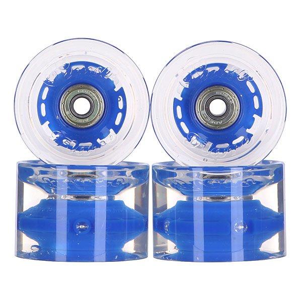Колеса для скейтборда для лонгборда с подшипниками Sunset Conical Longboard Wheel Set With Abec9 Blue 78A 65 mmДиаметр: 65 mm    Жесткость: 78A    Цена указана за комплект из 4-х колес    В комплект входят восемь подшипников Abec-9, восемь шайбочек на оси и четыре втулки.<br><br>Цвет: прозрачный,синий<br>Тип: Колеса для лонгборда