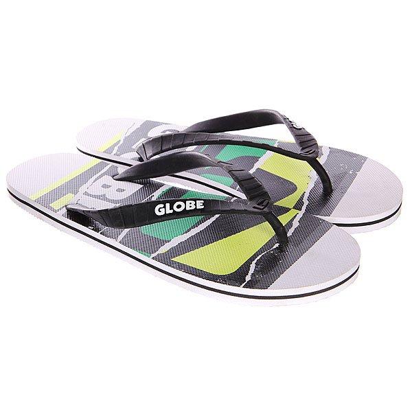 Шлепанцы Globe N Rip White/Green<br><br>Цвет: зеленый,черный,белый<br>Тип: Вьетнамки<br>Возраст: Взрослый<br>Пол: Мужской