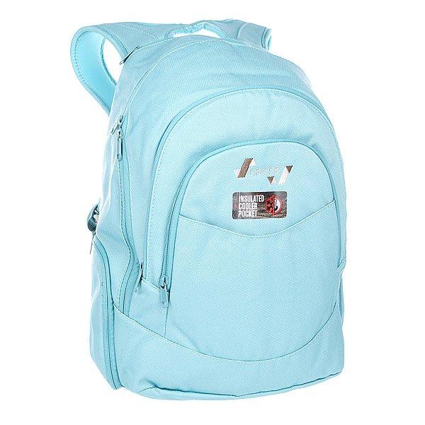 Рюкзак школьный женский Dakine Prom  Mineral BlueЛегкий женский городской рюкзак для ежедневного использования.  Характеристики:  Вместительное внутреннее отделение на молнии. Задняя стенка и наплечные ремни из дышащего материала DriMesh®.Карман –органайзер. Вместительный карман на лицевой стороне. Карман на флисовой подкладке для солнцезащитных очков.  Стеганое дно. Эргономичные смягченные плечевые лямки. Боковой карман на молнии.<br><br>Цвет: голубой<br>Тип: Рюкзак школьный<br>Возраст: Взрослый<br>Пол: Женский