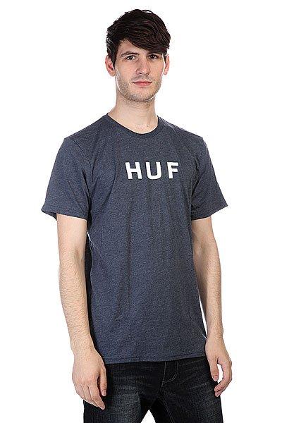 Футболка Huf Original Logo Tee Navy Heather<br><br>Цвет: синий<br>Тип: Футболка<br>Возраст: Взрослый<br>Пол: Мужской