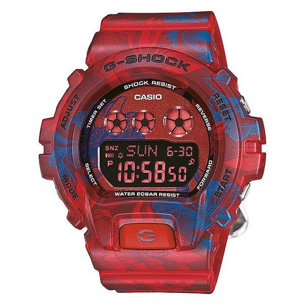 Часы Casio G-Shock Gmd-s6900f-4e Red/BlueХарактеристики: Светодиодная подсветка. Ударопрочная конструкция защищает от ударов и вибрации. Функция мирового времени.Покрытые спецсоставом метки на циферблате и стрелках светятся в темноте.Таймер с минутной точностью и автоповтором. 5 ежедневных будильников, сигнал каждый час.Функция повтора будильника. Включение/выключение звука кнопок.  Автоматический календарь.12/24-часовое отображение времени. Прочное, устойчивое к царапинам минеральное стекло защищает часы от повреждений.Корпус из полимерного пластика и нержавеющей стали. Ремешок из полимерного материала. Водонепроницаемость (20 Бар/200 м). Аккумулятор обеспечивает часы достаточным питанием приблизительно на три года. Точность: +/- 15 сек в месяц. Тип батареи: CR1220.<br><br>Цвет: красный,синий<br>Тип: Электронные часы<br>Возраст: Взрослый<br>Пол: Мужской