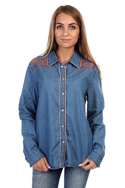 Рубашка женская Insight Napier Shirt 70 S Mid Blue<br><br>Цвет: синий<br>Тип: Рубашка<br>Возраст: Взрослый<br>Пол: Женский