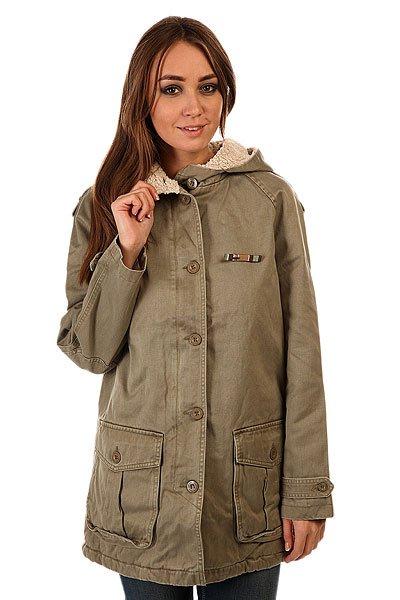Куртка женская Insight Hot Fuzz Jacket Camo GreenКуртка отлично подойдет для любого случая жизни, разнообразит Ваш образ, согреет и не даст Вам промокнуть в прохладные дни. Длинные полы куртки Insight Hot Fuzz и классический крой отлично сочетаются с капюшоном.Технические характеристики: Подкладка - искусственный мех.Фиксированный капюшон с утеплением.Накладные карманы для рук на пуговицах.Декоративные элементы на рукавах.Застежка - пуговицы.Фасон - стандартный (regular fit).<br><br>Цвет: серый<br>Тип: Куртка<br>Возраст: Взрослый<br>Пол: Женский