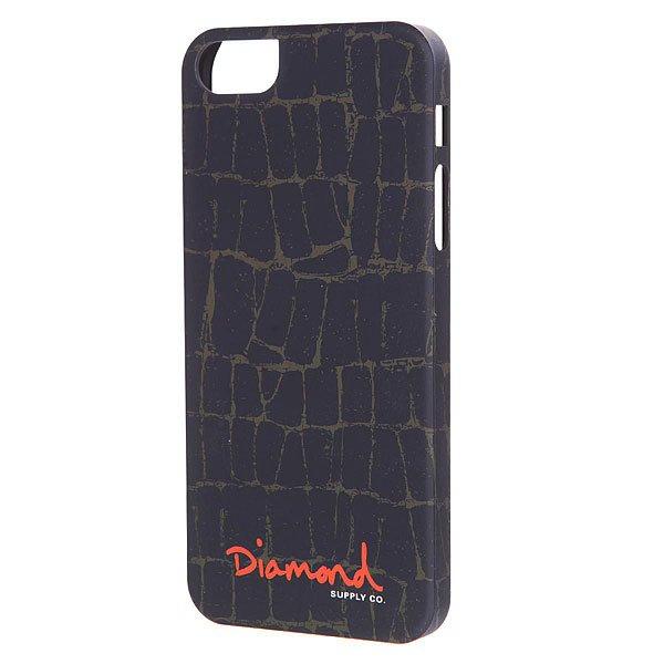 Чехол для iPhone 5/5S Diamond Croc Case Black<br><br>Цвет: черный<br>Тип: Чехол для iPhone