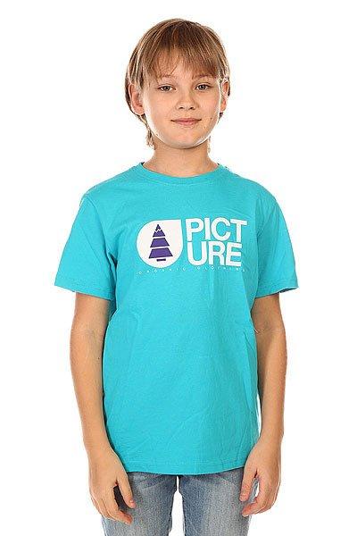 Футболка детская Picture Organic Basement Light Blue<br><br>Цвет: голубой<br>Тип: Футболка<br>Возраст: Детский