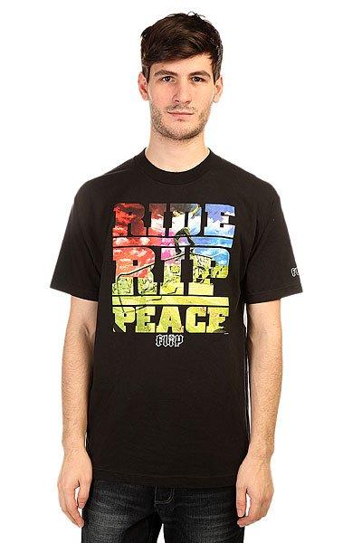 Футболка Flip Rrp BlackСтильные и яркие футболки Flip, которые разработаны специально под катание на доске.Технические характеристики: Фасон стандартный (Regular fit).Объемный принт на груди.<br><br>Цвет: черный<br>Тип: Футболка<br>Возраст: Взрослый<br>Пол: Мужской