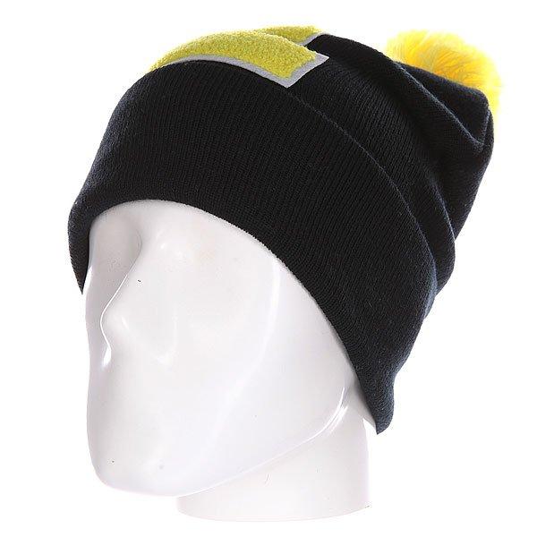 Шапка Truespin Abc Pompom Beanie Black/Yellow E<br><br>Цвет: черный,желтый<br>Тип: Шапка<br>Возраст: Взрослый<br>Пол: Мужской