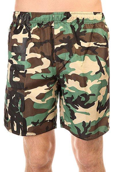 Шорты пляжные Stussy Shout Camo Camo<br><br>Цвет: зеленый,бежевый,коричневый<br>Тип: Шорты пляжные<br>Возраст: Взрослый<br>Пол: Мужской