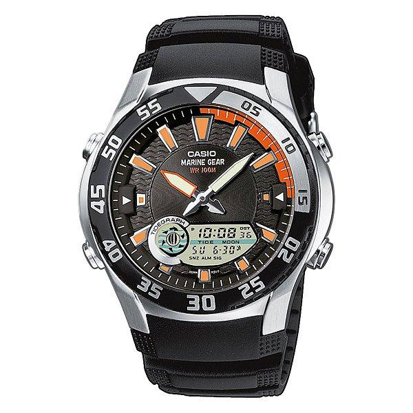 Часы Casio Collection 49698 Amw-710-1A BlackФункциональная, водонепроницаемая модель часов позволяет не снимать часы при погружении в воду на глубину до 100 метров. Дополнительным плюсом также является наличие графика приливов и отливов, а также неоновый дисплей, благодаря которому Вы можете видеть точное время на часах даже в темное время суток.Технические характеристики:  Светодиодная подсветка.Неоновый дисплей - светящееся покрытие обеспечивает длительную подсветку в темное время суток после короткого воздействия света.Отображение данных о луне - на экране отображается фаза луны, исходя из Ваших текущих данных широты и долготы.Отображение графика приливов - графики приливов и отливов отображаются, исходя из Ваших текущих данных  широты и долготы, а также лунного промежутка.Дополнительный циферблат мирового времени.Функция секундомера- 1/100 сек. - 24 часа.Таймер - 1/1 мин. - 24 часа (с автоматическим повтором).Будильник с тремя многофункциональными звуковыми сигналами.Функция повтора будильника.Включение/выключение звука кнопок.Автоматический календарь.12/24-часовое отображение времени.Минеральное стекло - прочное, устойчивое к царапинам минеральное стекло защищает часы от повреждений.Корпус из нержавеющей стали.Ремешок из полимерного материала.Продолжительное время работы аккумулятора - 10 лет.Водонепроницаемость (10 Бар) - 100м.Точность +/- 30 сек в месяц.<br><br>Цвет: черный<br>Тип: Кварцевые часы<br>Возраст: Взрослый<br>Пол: Мужской