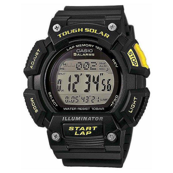 Часы Casio Collection Stl-s110h-1c BlackСпортивные и очень мощные наручные часы в корпусе из полимерного пластика.Технические характеристики: Светодиодная подсветка.Питание от солнечной энергии - аккумулятор заряжается от солнечной панели расположенной на циферблате.Мировое время.Секундомер.Два таймера обратного отсчета.Будильник.Ежечасный сигнал.Включение/выключение звука кнопок.Полностью автоматический календарь.12/24 -часовой формат времени.Индикатор зарядки элемента питания.Органическое стекло - стекло из полимерного материала.Корпус из полимерного пластика.Ремешок из полимерного материала.Водонепроницаемость (10 Бар) - 100м.Точность  +/- 30 секунд в месяц.<br><br>Цвет: черный<br>Тип: Электронные часы<br>Возраст: Взрослый<br>Пол: Мужской