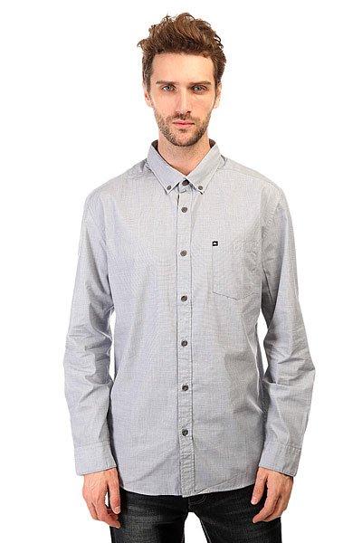 Рубашка Quiksilver Wilsdenls Wvtp Dark DenimКлассическая мужская рубашка с длинными рукавами от Quiksilver.Технические характеристики: Классический отложной воротник на пуговицах.Свободный крой.Длинные рукава с манжетами на пуговицах.Нагрудный карман с логотипом.Застежка - пуговицы.<br><br>Цвет: голубой<br>Тип: Рубашка<br>Возраст: Взрослый<br>Пол: Мужской
