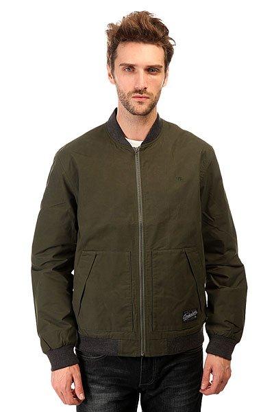 Бомбер Quiksilver Dark Journeys Jckt Forest NightЛегкая куртка-бомбер - именно то, что нужно, когда речь идет о тепле и комфорте.Характеристики:Внутренняя подкладка из тафты.Застежка – молния. Эластичные манжеты на рукавах, подоле и воротнике. Два вместительных накладных функциональных кармана.<br><br>Цвет: зеленый<br>Тип: Бомбер<br>Возраст: Взрослый<br>Пол: Мужской