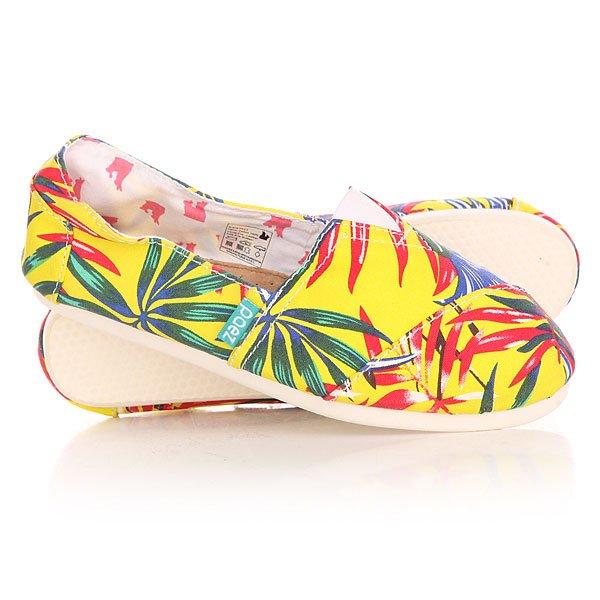Эспадрильи женские Paez Special Peek TropicanaУдобная и легкая обувь на лето от аргентинского производителя - Paez. Стильные и качественные эспадрильи, с ортопедической стелькой, будут уместны при любой обстановке и станут отличным дополнением к Вашему гардеробу. Такая обувь отлично подойдет и для городских прогулок и для похода на пляж. Эспадрильи очень быстро сохнут и устойчивы к загрязнениям, что делает их универсальной обувью для всех!Характеристики:Быстро высыхают от влаги. Устойчивы к загрязнениям. Удобно снимаются и одеваются: вшитые резинки по бокам. Прочная отделка и качественные материалы.Удобная ортопедическая стелька из кожи с супинатором для поддержания свода стопы. Перфорация кожаной стельки обеспечивает дополнительную вентиляцию для Ваших ног. Двойная строчка с использованием прочной капроновой нити.Оплетка джутом.<br><br>Цвет: желтый,мультиколор<br>Тип: Эспадрильи<br>Возраст: Взрослый<br>Пол: Женский
